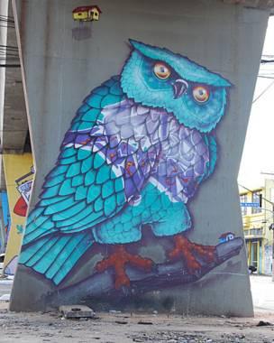 Grafite de Binho Ribeiro/Foto: Flavia Nogueira