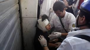 Una niña herida