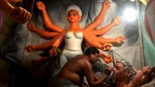 कोलकाता, दुर्गा पूजा, नवरात्र, गरबा, भारत