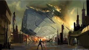 Amy Beth Christenson: Star Destroyer crash, The Force Unleashed video game - digital