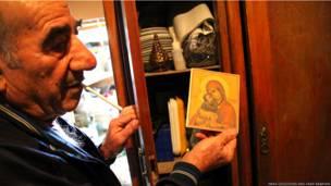 Гаруш с иконой Донской богоматери