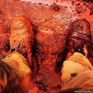 Zapatos en barro