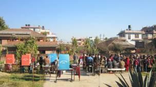 एउटा काठमाण्डूको मतदान केन्द्र
