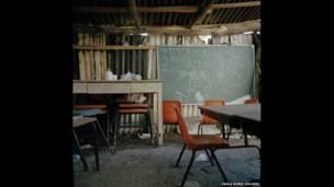 मैक्सिको के मिकोएकन का एक स्कूल