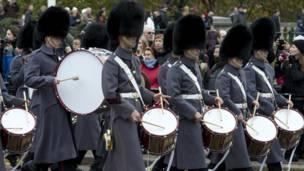 Барабанщики церемониального полка.