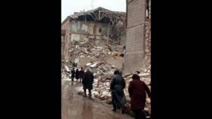 Беженцы в опустошенном Ленинакане