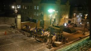 Barricadas en Kiev