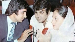 अमिताभ बच्चन और जया बच्चन के साथ दिलीप कुमार
