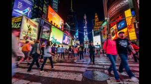 Таймс-сквер, Нью-Йорк, США