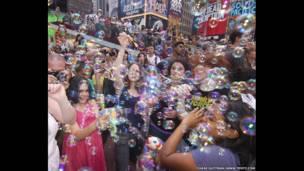 بازی حباب در نیویورک