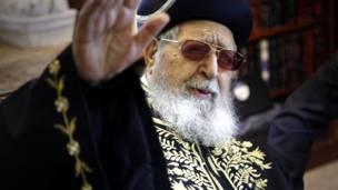 Rabbi Ovadia Yosef. AFP