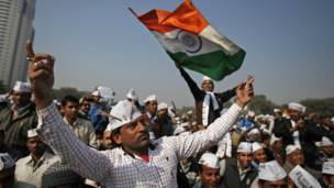 आम आदमी पार्टी, अरविंद केजरीवाल, शपथ ग्रहण समारोह, रामलीला मैदान, दिल्ली,