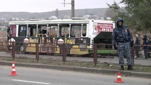 После взрыва автобуса в Волгограде