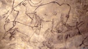 गुफा की दीवारों पर बने चित्र. जियान प्लैसार्ड