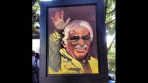 retrato de Gabriel García Márquez en Aracataca, Colombia.
