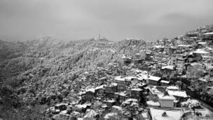 शिमला, बर्फ से ढकी पहाड़ियां