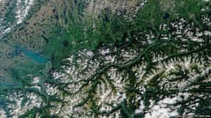 Инсбрук, Австрия. Фото: НАСА