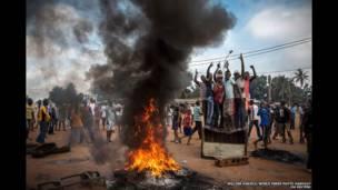 Демонстранты в ЦАР