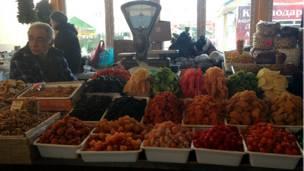 Торговец на базаре