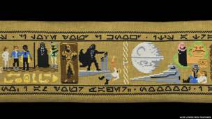 Aled Lewis retratou toda a saga de George Lucas em um detalhado trabalho de 9 metros de comprimento.