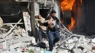 Serangan pasukan pemerintah Suriah di Aleppo