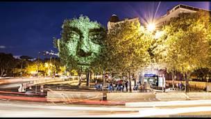 लाइट पेंटिंग प्रोजेक्ट, मार्सेली, दक्षिणी फ़्रांस, फिलिप एकारोक्स