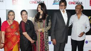 जया बच्चन, वृंदा राय, ऐश्वर्या राय बच्चन, अमिताभ बच्चन और रजनीकांत