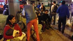 Residentes evacuados en Antofagasta