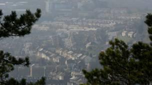 图辑:沙尘雾霾袭英伦