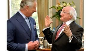 प्रिंस चार्ल्स और आयरलैंड के राष्ट्रपति