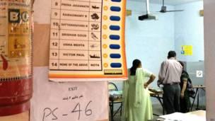 दिल्ली का एक मतदान केंद्र