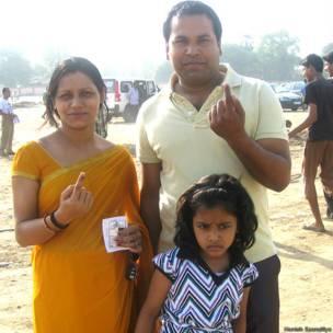 पटना, मतदान के बाद एक परिवार