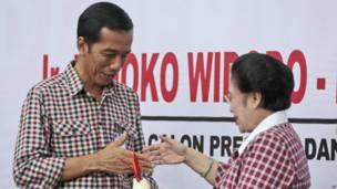Joko Widodo dan Megawati