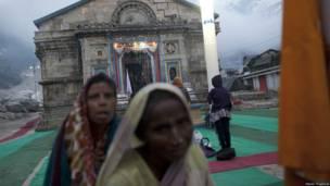 केदारनाथ में बाढ़ से हुई तबाही के बाद का मंजर
