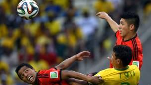 ब्राज़ील-मैक्सिको मैच फ़ुटबॉल विश्व कप 2014, 17 जून