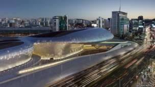 Dongdaeum Design Plaza, de Seúl (Corea del Sur).