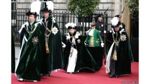 ब्रिटेन की महारानी और राज परिवार के कुछ सदस्य