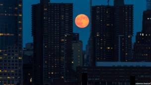 सुपरमून, लोवर मैनहट्टन, न्यूयॉर्क, अमरीका, देबाशीष प्रधान