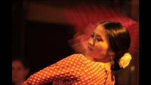 Bailarines de flamenco