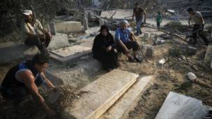 Keluarga nyekar di Kota Gaza