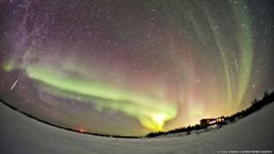 Aurora borealis. O Chul Kwon/ Caters News Agency