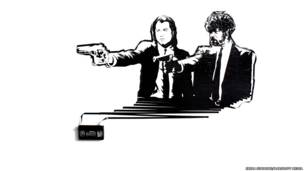John Travolta y Samuel L. Jackson en Pulp Fiction