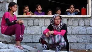 Mujeres yazidíes refugiadas