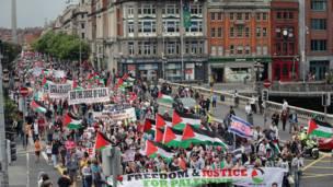 Protesta en Dublín, Irlanda