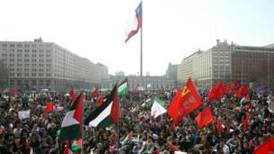 Protesta en Santiago de Chile