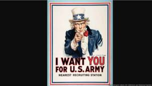 I Want You for U.S. Army, United States, 1917, James Montgomery Flagg (1877–1960), color lithograph, 42 × 32 in. The Huntington Library, Art Galleries, and Botanical Gardens, gift of Charles Heartwell.