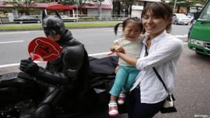 जापान के चिबा शहर में चिबैटमैन