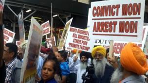 नरेंद्र मोदी का विरोध प्रदर्शन