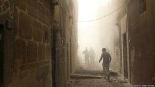 एलेप्पो में बमबारी