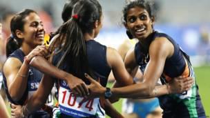 महिला 4X400 मीटर रिले दौड़, भारत, स्वर्ण पदक, एशियाई खेल, इंचियोन, दक्षिण कोरिया